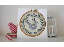 'Thinking of You' Printed Embroidery Greetings Card