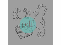 \'Crab, Shell & Seahorse\' PDF Embroidery Pattern