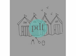 \'Beach Huts\' PDF Embroidery Pattern