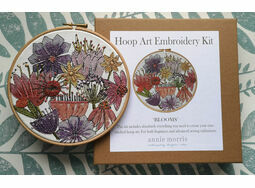 \'Blooms\' Floral Hoop Art Hand Embroidery Kit