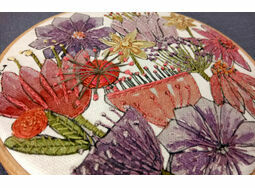 'Blooms' Floral Hoop Art Hand Embroidery Kit