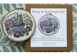 'Tea & Succulents' Floral Hoop Art Embroidery Kit