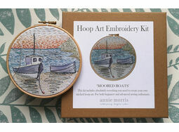 \'Moored Boats\' Hoop Art Hand Embroidery Kit