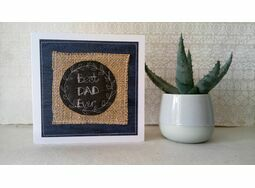 'Best Dad Ever' Handmade Embroidery Greetings Card