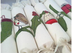 Christmas Cracker Box set of 6 Embroidered designs