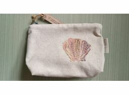 Embroidered Tiger Scallop Shell Make Up Bag