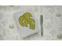 Monstera Leaf Embroidered Sketchbook