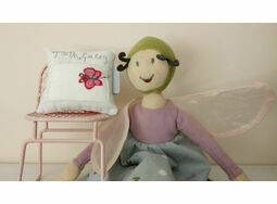Embroidered 'Butterfly' Toothfairy Pillow