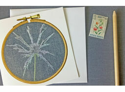 Seaholly Printed Printed Embroidery Greetings Card