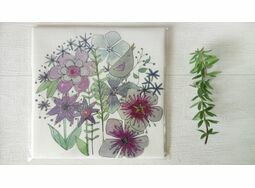'Birdsong' Floral Linen Panel Embroidery Pattern