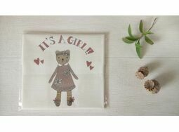 \'It\'s a Girl!\' New Baby Linen Panel Embroidery Pattern