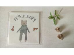 'It's a Boy!' New Baby Linen Panel Embroidery Pattern