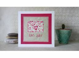 \'Love Letter\' Handmade Embroidery Greetings Card