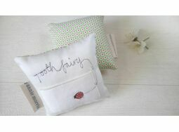 Embroidered 'Ladybird' Toothfairy Pillow