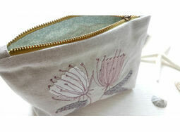 Embroidered Botanical Cosmetic Purse