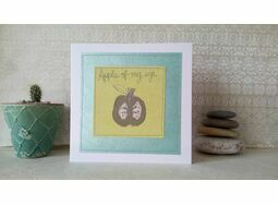 'Apple Of My Eye' Handmade Embroidery Greetings Card