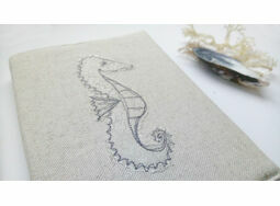 Seahorse Embroidered Sketchbook