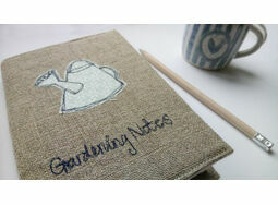 'Gardening Notes' Embroidered Notebook