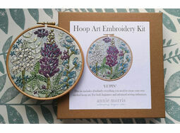 \'Lupin\' Floral Hoop Art Hand Embroidery Kit