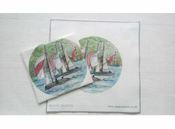 \'Dartmouth Sail Boats\' Linen Panel Embroidery Pattern