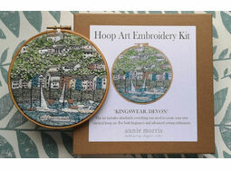 \'Kingswear Devon\' Hoop Art Hand Embroidery Kit