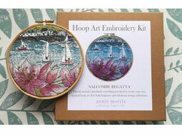 'Salcombe Regatta' Hoop Art Hand Embroidery Kit
