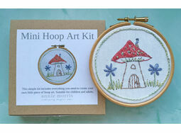 *NEW* Mini Hoop Art Hand Embroidery Kit - Fairy House