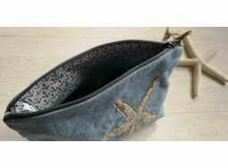 *NEW* Starfish Denim Cosmetic bag