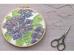 *NEW* Hydrangea Linen Panel Embroidery Pattern