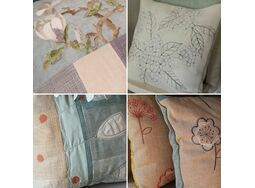 Creative Cushion Making workshop 22nd February at Harbour House, Kingsbridge, Devon 10am-4pm