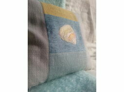 Yellow 'Tellin Seashell' Cushion