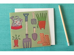 *NEW* Gardening tools greetings card