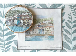 'Bayards Cove' Linen Embroidery Pattern Panel
