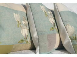 'Magnolia' Floral Embroidered Cushions