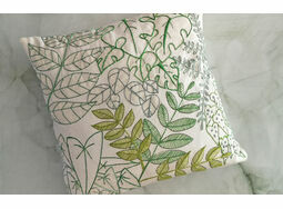 *NEW* Linen Leafy cushion panel