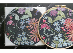 *NEW* Midnight Blooms Embroidery Pattern Linen Panel