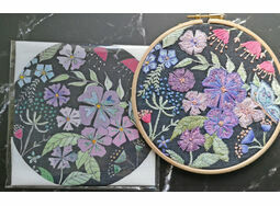 *NEW* Nicotiana Linen Pattern Embroidery panel