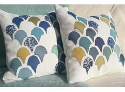 'Scallop Shell' Applique Cushion