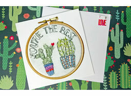 \'You\'re the Best\' Printed Embroidery Greetings Card