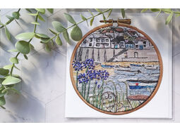 *NEW* Mousehole Printed Embroidery card