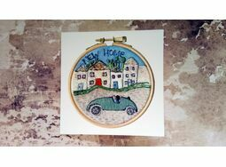 'New Home' Printed Embroidery Greetings Card