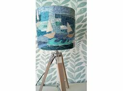 Stormy Seas Embroidered Lampshade