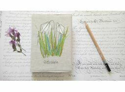 Floral 'Fritillary' Embroidered Sketchbook
