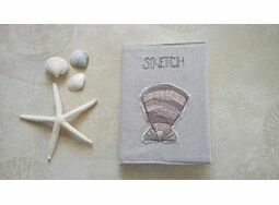 Shell Embroidered Sketchbook in Kraft Gift Box