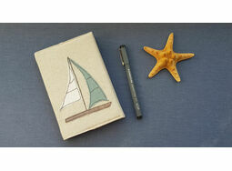\'Yacht\' Embroidered A6 Notebook
