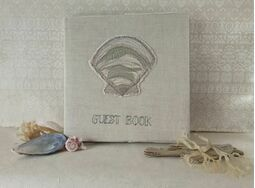 """Shell"" Embroidered Guestbook"