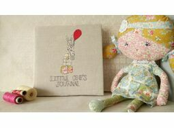 'Little One's Journal' Girl's Embroidered Memory Book