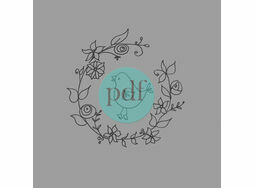 'Bird In Wreath' PDF Embroidery Pattern
