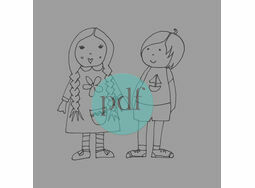 'Brother & Sister' PDF Embroidery Pattern