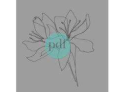 'Alstromeria Flower' PDF Embroidery Pattern